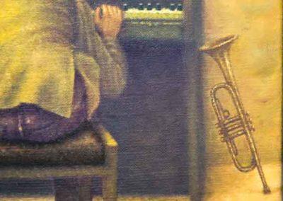 Schilderij van Theo Leering. Galerie 'Het Kruithuisje' te Alkmaar