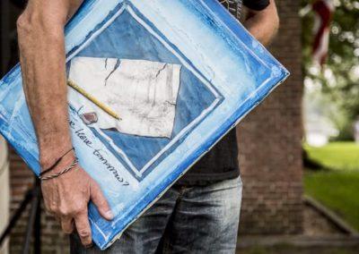 Werk van Rob Komen in galerie Het Kruithuisje te Alkmaar